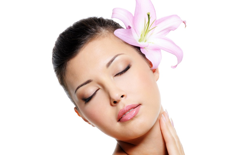 Skincare of female neck