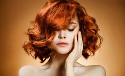 Beauty Portrait. Curly Hair