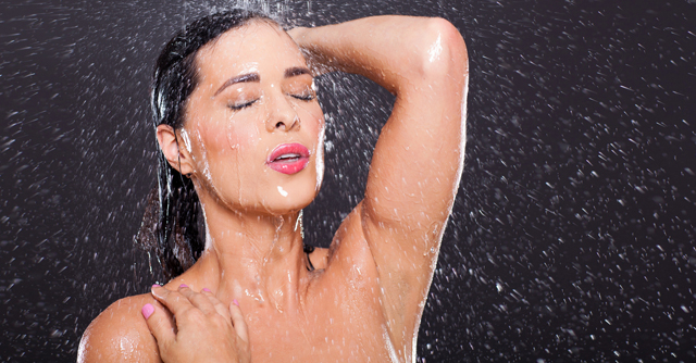 sexy woman in shower
